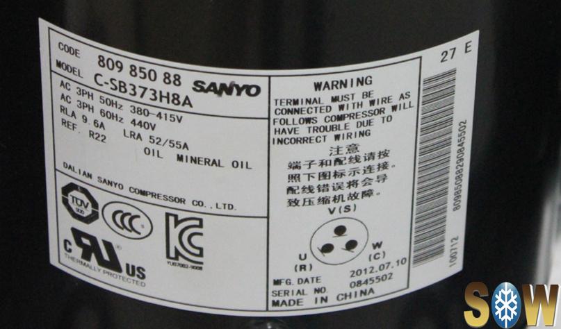 C Sb Series Sanyo Panasonic Scroll Refrigeration